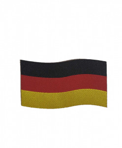 Petic textil, patch brodat , 70mm x 40mm, steag Germania, Wenco