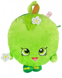 Rucsac , ghiozdan copii plusat , Apple,  SHOPKINS PLUSH