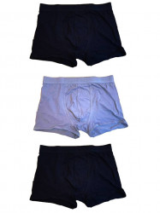 Set 3 boxeri barbati, negru, albastru, marimea 3XL, 95% bumbac, 5% elastan, Livergy