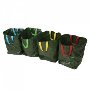 Set 4 saci reciclare, colectare, dublu laminati, rezistent UV, 400 x 320 x 320mm, 100 gr, Silverline