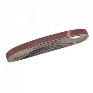 Set 5 benzi slefuitor ingust , 13 x 457mm , grit 80 , Silverline
