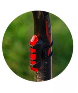 Stop bicicleta, lumina rosie, 7.8 cm, acumulator inclus , 5 LED, usb micro, 4 moduri, VKTools