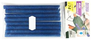 Bagheta silicon universala, sclipici albastru, set 8buc, 100mm