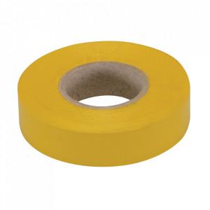 Banda izolatoare, latime 19mm, lungime 33m, galben, Fixman