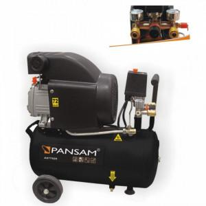 Compresor aer PANSAM 24L , 8 bar , 2x racord aer , 200 L/min , 1500 W