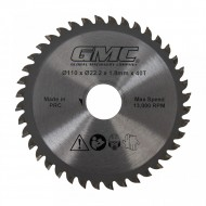 Disc circular electric, 110 x 22.2mm x 40T, GMC