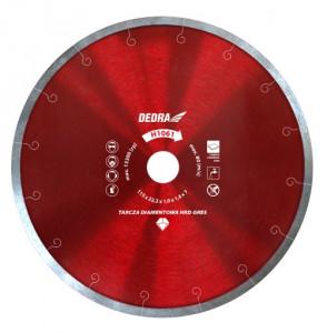 Disc diamantat placi ceramice dure, 250 x 25.4mm, Dedra