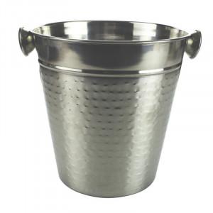 Frapiera cu cleste pentru servire cuburi de gheata, cleste inclus, material inox, 14cm, VKTools