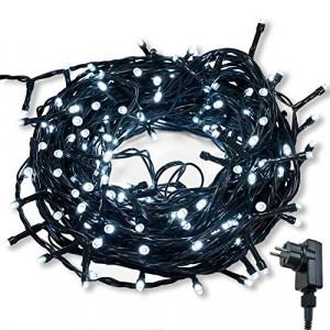Instalatie becuri led decorativa Craciun, 400 LED-uri, telecomanda IR , 6.7m, lumina rece, Dekor
