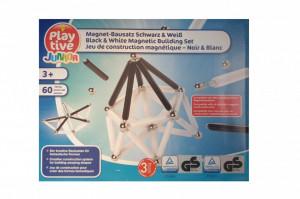 Joc constructie 3D magnetic, 60 piese, Playtive Junior