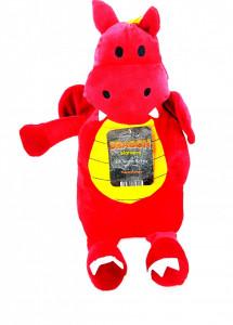 Jucarie thermotherapy cu recipient pentru apa calda , Dragon Warmers rosu