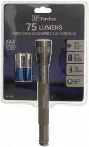 Lanterna semi-profesionala pe baterii, LED , 75Lm ,corp aluminiu,  ActiveAP