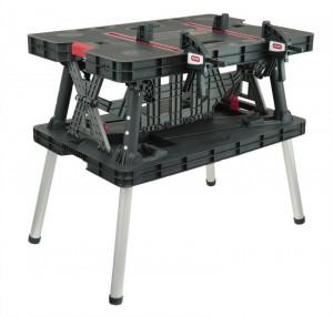 Masa lucru atelier Dedra N120 pliabila reglaj rapid cleme 2 sarcina maxima 453 kg