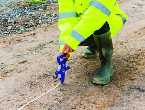 Ruleta 30M , gheare metalice , Silverline Open Reel Surveyors Tape