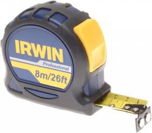 Ruleta profesionala , 8 m X 25 mm carcasa din cauciuc, rezistenta la impact, Irwin