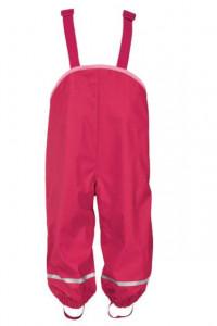 Salopeta ploaie copii, 74/80, 6-12 luni, rosu, interior flausat, Lupilu