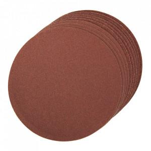 Set 10 discuri slefuit, oxid de aluminiu, 150mm, auto-aderente, grit 2 x 60, 4 x 80, 4 x 120, Silverline