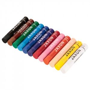 Set 12 creioane cerate 11mm, 7cm, Jaxon