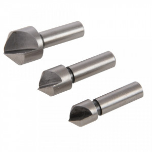 Set 3 burghie suruburi cap inecat, 10, 12, 16mm, metal, lemn, Silverline