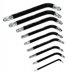 Set 9 chei tip torx portabile, T10, T15, T20, T25, T27, T30, T40, T45, T50, Rolson