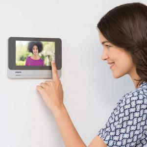 "Video interfon inteligent, wi-fi, carduri RFID acces, ecran 7"" LCD, conectare mobil, Philips"