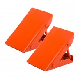 Blocator opritoare piedica roata rabatabil , Silverline Folding Steel Wheel Chocks