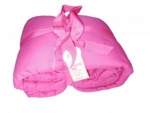 Cuvertura matlasata premium, roz, 200 x 135 cm, butterfly, Home George