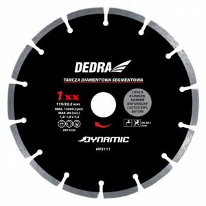 Disc diamantat , 125 x 22.2mm , taie caramida , piatra , beton , Dedra