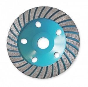 Disc diamantat pentru slefuit , 125mm , 22.2mm , Dedra Turbo
