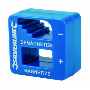 Dispozitiv de magnetizat / demagnetizat scule , 50 x 50 x 30mm Silverline