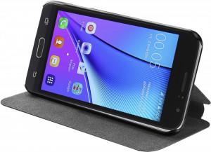 Husa de protectie tip carte, inchidere magnetica, buzunare carduri/bani, Nokia 3, Azuri