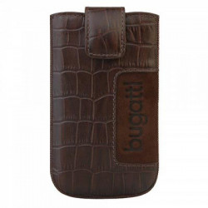 Husa de protectie universala , piele naturala , maro, 122 x 73mm, Bugatti