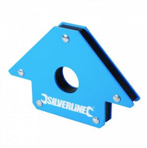 Magnet pentru sudura Silverline 100mm 45 °  90 °  135 ° , Silverline Welding Magnet