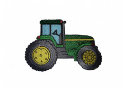 Petic textil, patch brodat , 110 x 80mm, tractor, Wenco