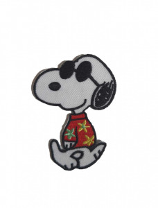 Petic textil, patch brodat , 70 x 48mm, Snoopy hawaii, Wenco