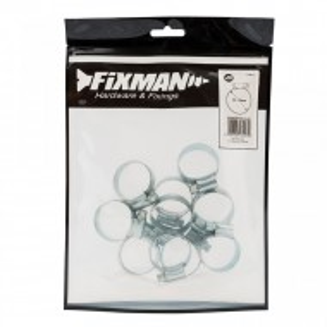 Set 10 coliere metalice profesionale, 25-35mm, Fixman
