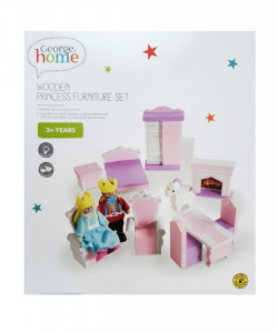 Set 13 piese, mobilier lemn, figurine, king, princess, George Home