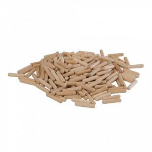 Set 200 cepuri lemn imbinari, 6 x 30mm, lemn mesteacan, Silverline