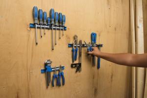 Set 3 suporti magnetici pentru depozitare scule, 200, 300, 460mm, Silverline