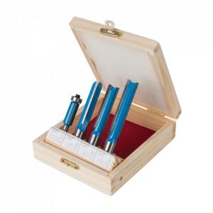 Set 4 freze lemn, prindere 8-12mm, Silverline