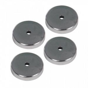 Set 4 magneti ferita, carcasa metal, forta 7.2Kg, 36x7mm, Silverline