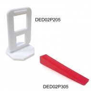 Set 50 clipsuri nivelare gresie faianta ,6-12mm, Dedra