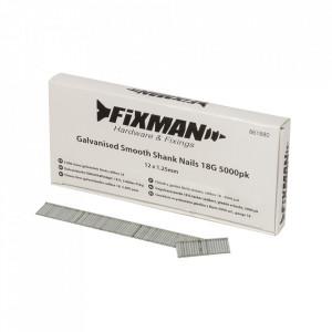 Set 5000 cuie galvanizate, 18G, 12 x 1.25mm, Fixman