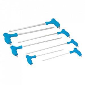 Set 7 imbusi extra-lungi, 2.5, 3, 4, 5, 6, 8, 10mm, Silverline
