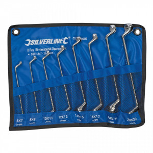 Set 8 chei fixe combinate, 6-22 mm, Silverline