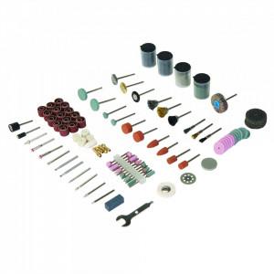 Set accesorii pentru biax 216 piese , taiat si slefuit , Silverline Rotary Tool Accessory Kit 216pce