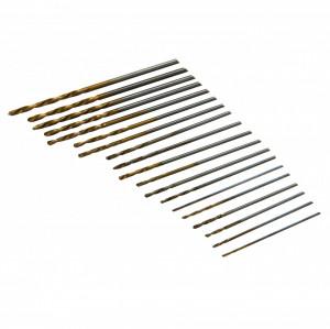 Set de mini burghie de perforare 20 buc , 0.30 - 1.60 mm , Silverline HSS Micro Drill Bit Set 20pce
