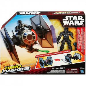 Star Wars Hero Mashers Episode VII TIE Fighter and TIE Fighter Pilot , figurine , dimensiune 12 inch