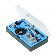 Aerograf Semi-profesional kit 6 piese , metal , duza 0.35mm , Silverline Air Brush Kit 6pce