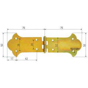 Balama ornamentala cufar, 76 x 50mm, Proline